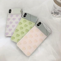 Pastel heart mirror iphone case