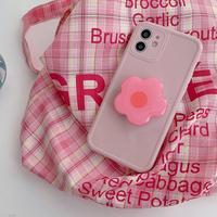 Big pink flower grip iphone case