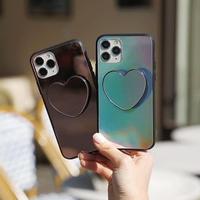 Heart grip mirror bumper case