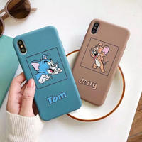 Mouse cat brown blue  iphone case