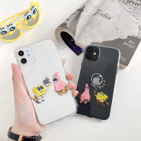 Cartoon  yellow pink couple clear iphone case