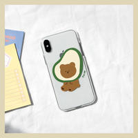 Bear avocado clear case 211