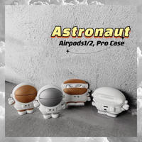 Astronaut gold silver airpods case