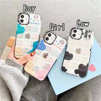 Boy girl cow calendar clear iphone case