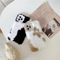 Milk cow black brown fur iphone case