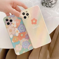 Pastel flower drawing iphone case