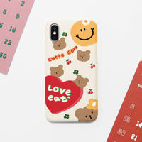 Love eat hard with grip case (Cream) 549