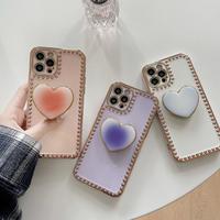 Gradation heart grip iphone case