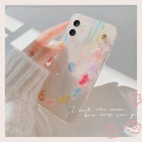 Heart strap laser clear iphone case