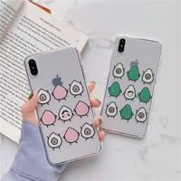 Avocado peach clear iphone case