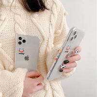Happy line clear iphone case