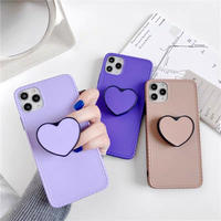 Purple brown  with heart grip iphone case
