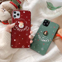 Christmas red green iphone case