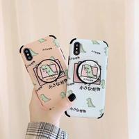 Dinosaur white orange with grip iphone case