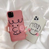 Cartoon face stand iphone case
