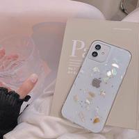 Summer shell glitter iphone case
