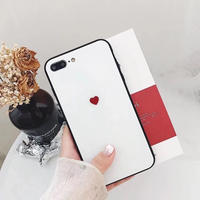 Petite heart black side iphone case