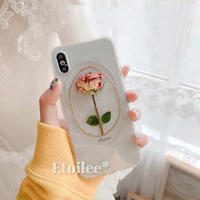 Real rose iphone case
