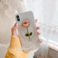 ⚠発送遅延⚠Real rose iphone case