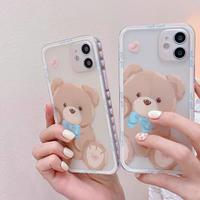 Baby bear heart side iphone case