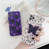 Vintage butterfly purple white iphone case