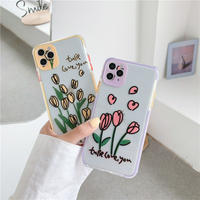Tulip love color side iphone case