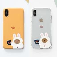Chocolate rabbit bear hard/clear case 561
