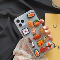 Food random clear iphone case