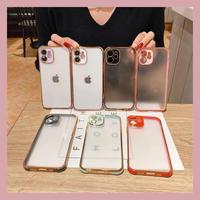 Color side gold line iphone case