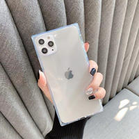 Clear square iphone case