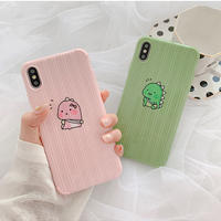 Baby dinosaur green pink  iphone case
