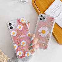 Daisy pink quicksand iphone case