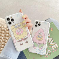 Cartoon pink yellow drawing iphone case