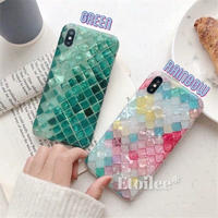 Rainbow green shell iphone case