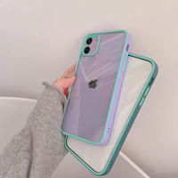 Spring purple green color side iphone case