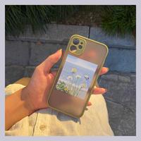 Flower drawing khaki side iphone case