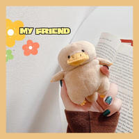 Brown duck doll airpods case