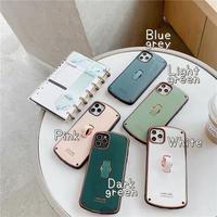 Metal color strap iphone case