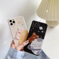 Bear rabbit nice day space iphone case