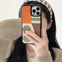 Autumn color pattern iphone case