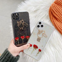 Red flower angel iphone case