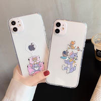 Mouse cat sleep fishing clear iphone case