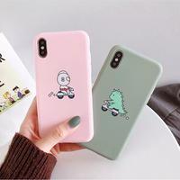 Green pink TPU iphone case
