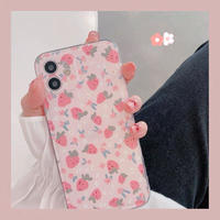 Strawberry heart side iphone case