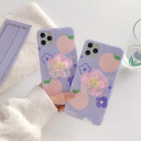 Purple peach with grip iphone case