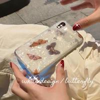 Butterfly aurora iphone case
