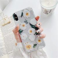 White flower glitter iphone case