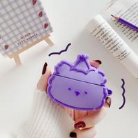 Purple bear airpods case