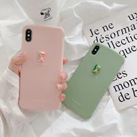 Dinosaur green pink  iphone case