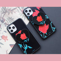 Rose pattern with heart grip case